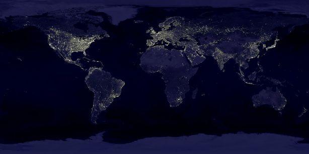 map nighttime