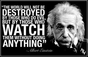 albert einstein the world evil