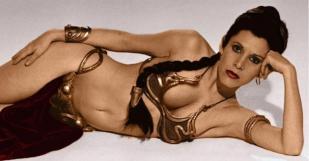 carrie fisher gold bikini