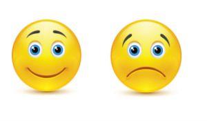 smileys happy sad