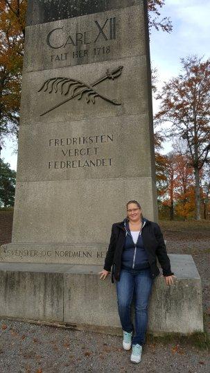 Första stoppet blev i Halden, där Fredrikstens fästning ligger.